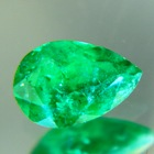 zimbabwe emerald pear fine color quality oil only pear pendant ambition
