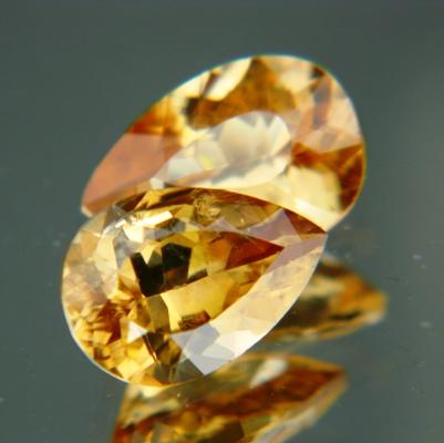Golden yellow Australian Zircon.