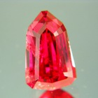 four carat untreated kite shaped ruby
