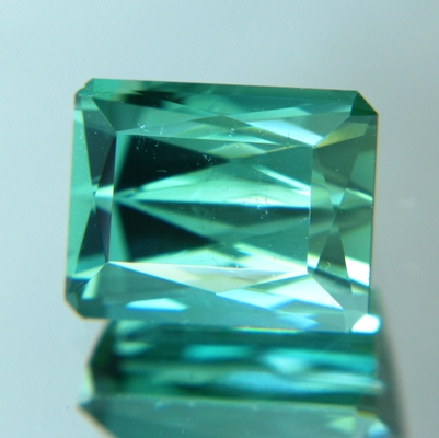 5 carat bright neon green blue tourmaline