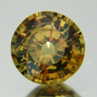 earthly colored round demantoid over one carat