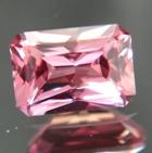 Precision cut padparadscha sapphire