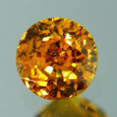 Golden honey African sapphire