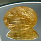 yellow needles in quartz rutilated