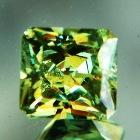 fine high dispersion green demantoid in best cutting certiofie