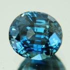 Metallic blue green Tanzanian sapphire