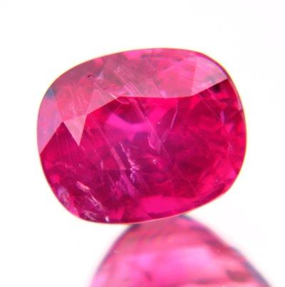 cushion three carat no-heat ruby