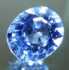 Violet sky blue African sapphire