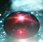 Deep Bordeaux red star Garnet