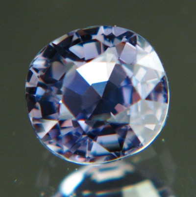 Icy violet blue African sapphire